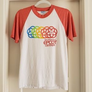 Vintage 80s WALT DISNEY WORLD EPCOT CENTER T Shirt